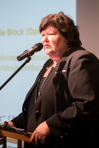 Maggie De Block geeft speech